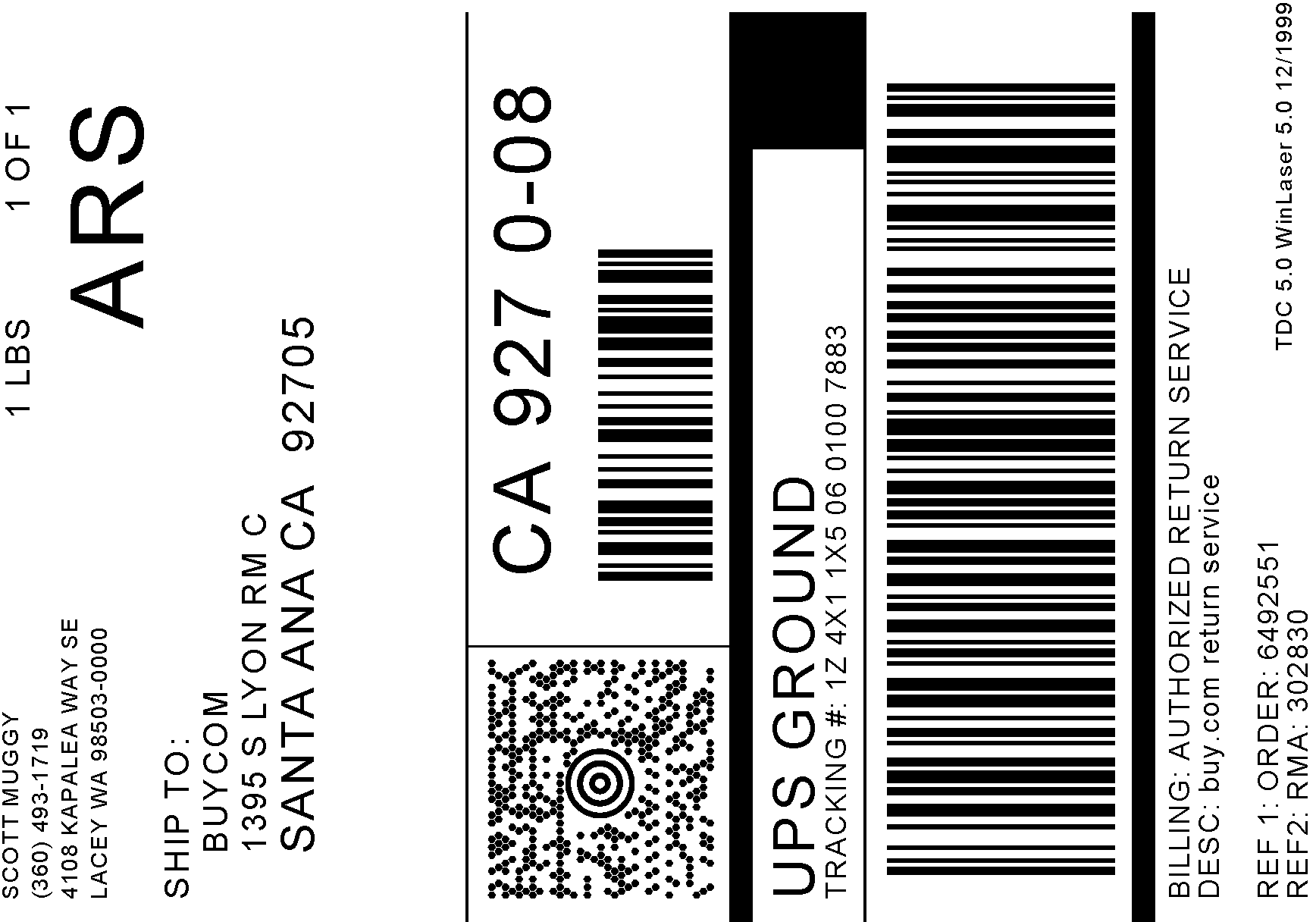 Label for How to send a shipping label to someone