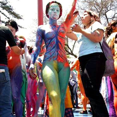 body painting galleries art
