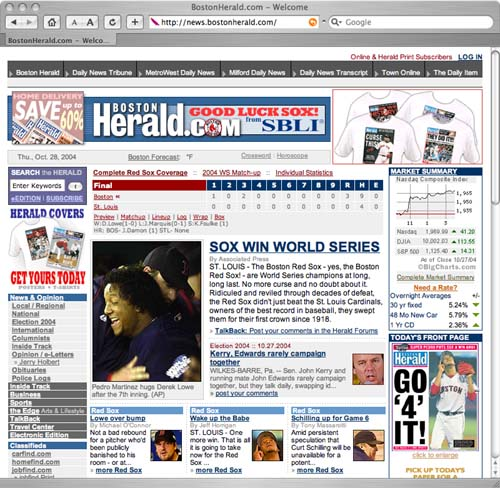 ws_bostonherald: Red Sox Win World Series - Boston Herald