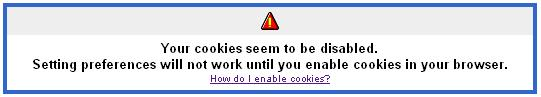 Your cookies seem to be disabled. You can bookmark the next page or enable cookies in your browser to set custom preferences.