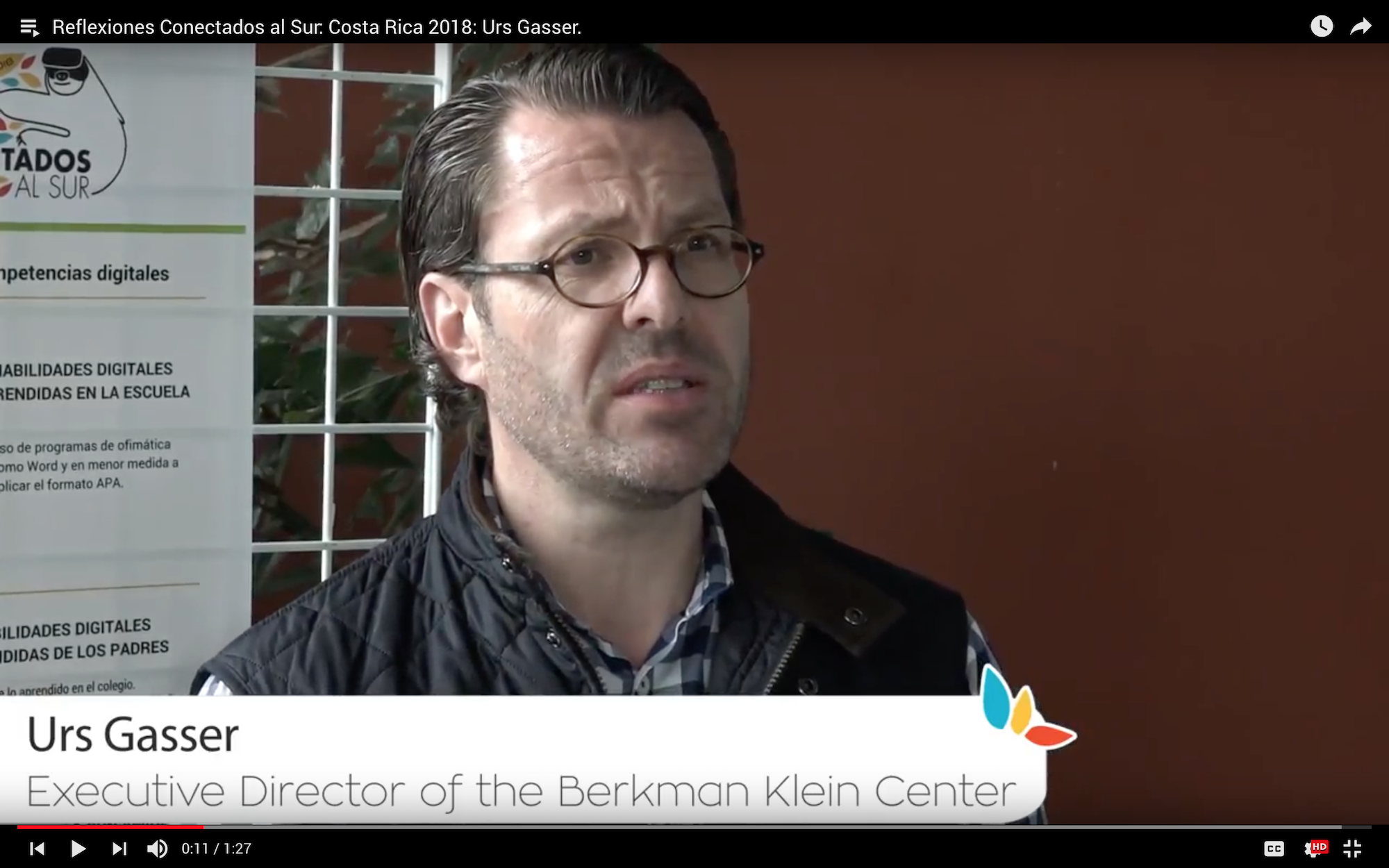Urs Gasser, executive director of the Berkman Klein Center and Professor at Harvard Law School shares his reflections about Conectados al Sur: Costa Rica