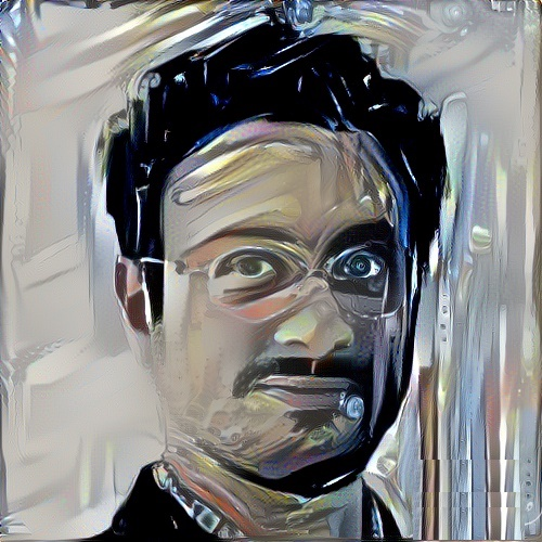 Momin's portrait as interpreted by algorithm