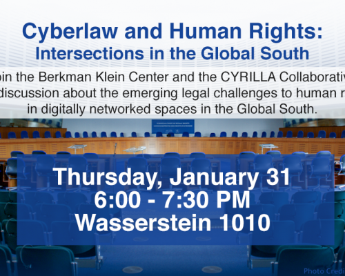 Cyberlaw and Human Rights