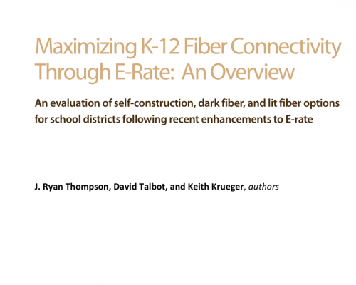 Maximizing K-12 Fiber Connectivity Through E-Rate: An Overview