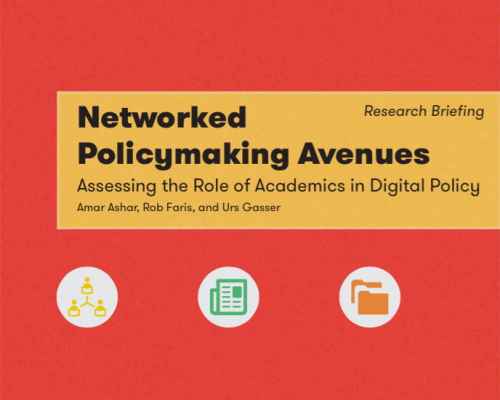 Networked Policy Making Avenues: Assessing the Role of Academics in Digital Policy