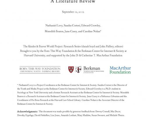 Bullying in a Networked Era: A Literature Review