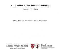 K-12 Edtech Cloud Service Inventory
