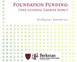 Foundation Funding: Open Licenses, Greater Impact