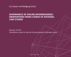 Liability of Online Intermediaries: New Study by the Global Network of Internet and Society Centers