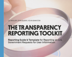 The Transparency Reporting Toolkit: Guide & Template