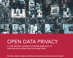 Open Data Privacy Playbook